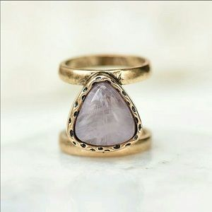 Stone Midi Ring Gold/Rose